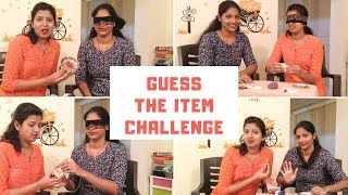 Guess the item challenge || Fun challenge || Divya Vlogz in Telugu