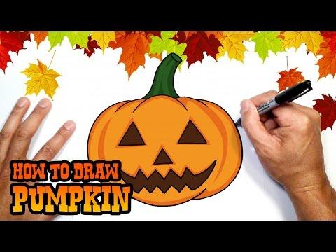 Creepy Halloween Pumpkin Drawings.How To Draw Halloween Pumpkin Drawing Lesson Youtube