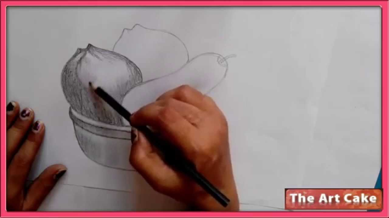 Fruit Bowl Pencil Sketch How To Draw Fruit Bowl Still