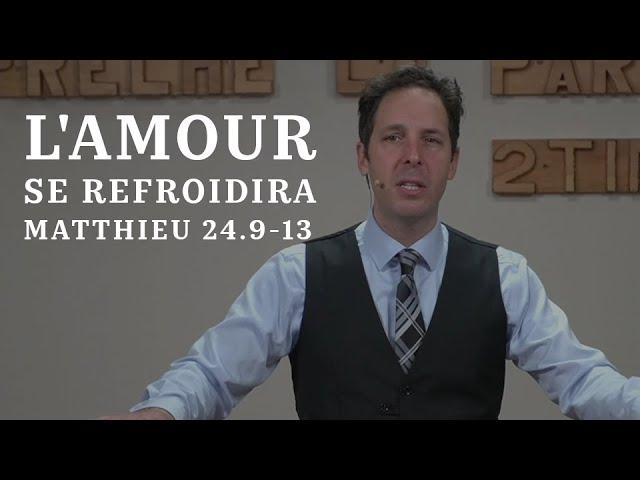 L'AMOUR DU PLUS GRAND NOMBRE SE REFROIDIRA