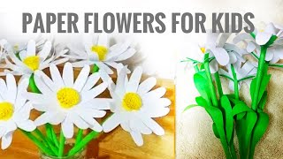 Paper flowers|flower making tutorial for kids