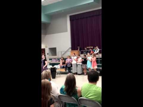 Sawyer Woods Elementary School 4th Grade Music Program 2015