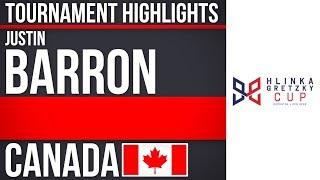 Justin Barron | Hlinka Gretzky Cup | Tournament Highlights