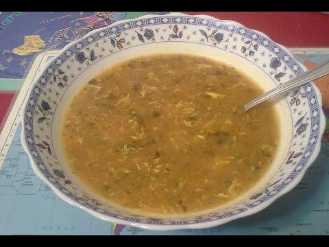 Суп из чечевицы с томатной
