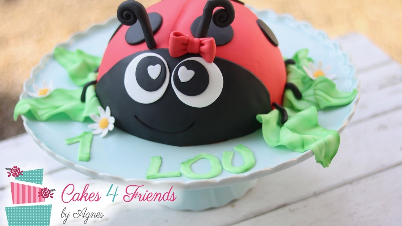 torte marienk fer kindergeburtstag birthday cake ladybug youtube. Black Bedroom Furniture Sets. Home Design Ideas