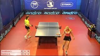 Настольный теннис матч 20112018 9 Терехова Лада Васильева Алина за 3-4 место