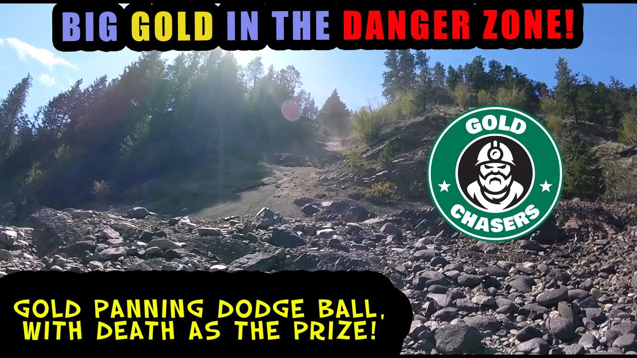 BIG GOLD IN THE DANGER ZONE! - Playing Dodgeball With Rocks!