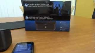 HP Portable Bluetooth Speaker Review, for Laptops or Smartphones
