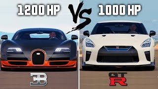 Bugatti VEYRON vs Nissan GT-R 1000HP | Forza Horizon 3