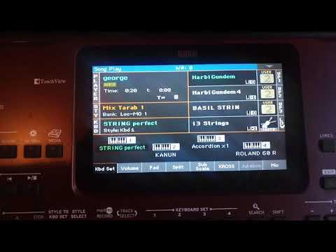 Korg Pa700 Oriental / Record Track Mp3 تسجيل مقطع موسيقي