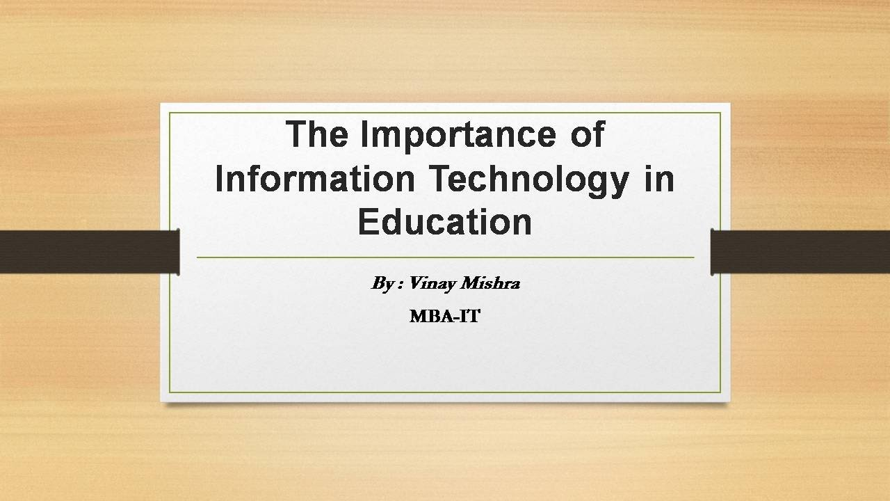 information about importance of education