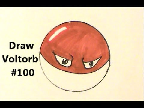 So easy how to draw voltorb pokemon no 100 tutorial