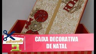 Veja como criar caixas decorativas de Natal com a artesã Érica Lahat – 26/11/20