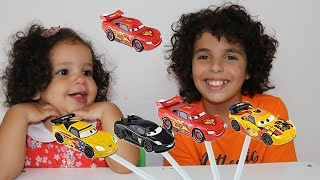 Learning Color Disney Cars Lightning McQueen Mack Truck for kids car toys