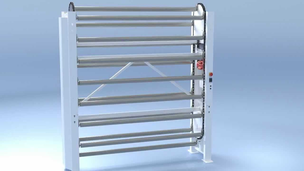 High Quality Vertical Storage Carousel Animation