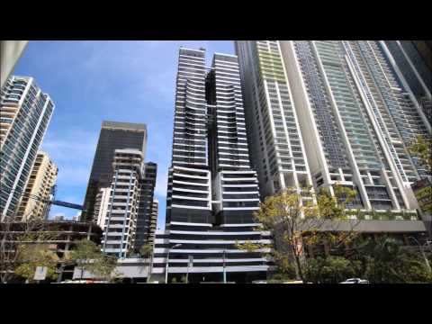 Skyscapers on Panama City's Waterfront (HD)