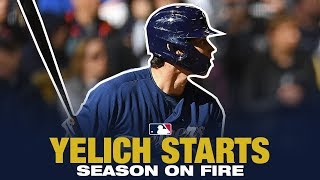 Christian Yelich starts season ON FIRE! 4 HRs in 4 games