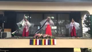 2016年我孫子の香取神社にて浦安の舞
