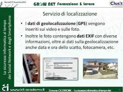 La sicurezza informatica al tempo dei Social Network e degli Smartphone - Simone Ciccarone - Clusit