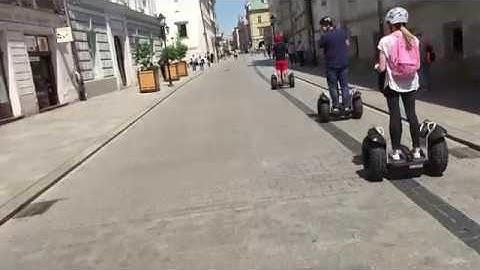 """SEGWAY X2 riding in Krakow (Poland) with """"Cruising Krakow"""""""