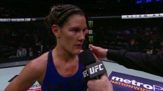 UFC 211: Cortney Casey Octagon Interview