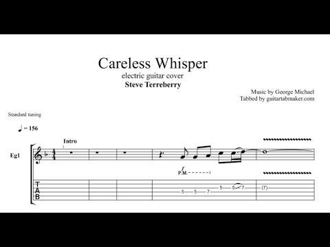 careless whisper tab electric guitar tab pdf guitar pro youtube. Black Bedroom Furniture Sets. Home Design Ideas