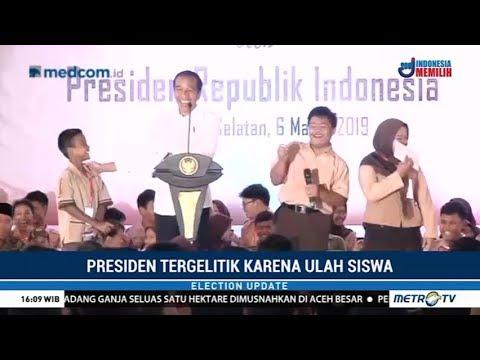 Momen Penuh Tawa Jokowi Bersama Siswa di Jakarta