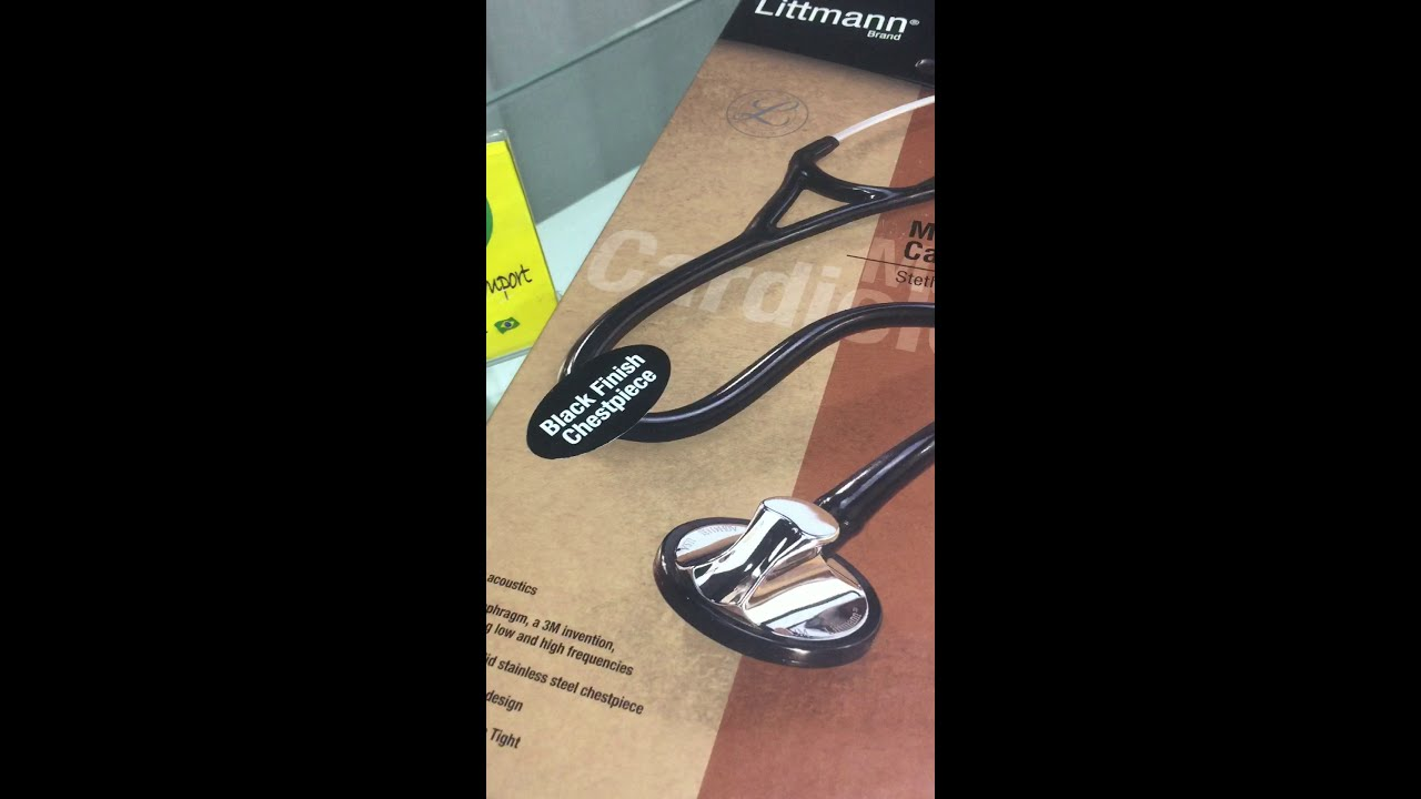 Estetoscópio 3M Littmann Master Cardiology Black Edition 2161 (Venda) #cardiology
