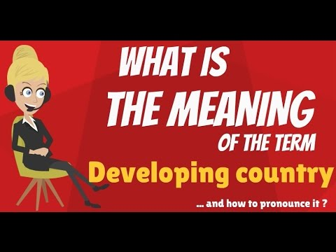What is DEVELOPING COUNTRY? DEVELOPING COUNTRY meaning - DEVELOPING COUNTRY definition