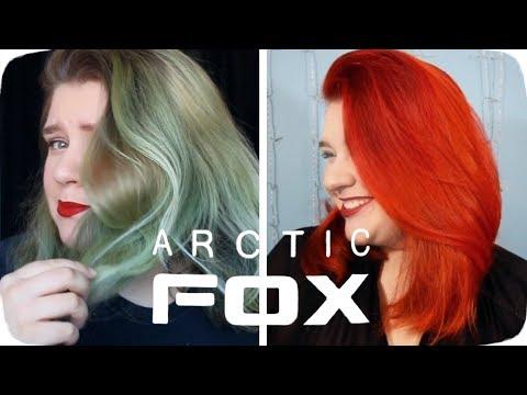 Dyeing My Hair Red/Orange with Arctic Fox Hair Dye