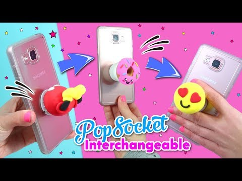 DIY Phone CRAFTS: Popsocket interchangeable!