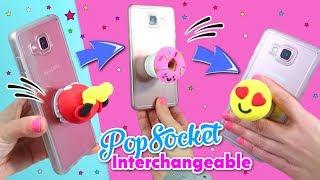 DIY Phone CRAFTS: Popsocket interchangeable!