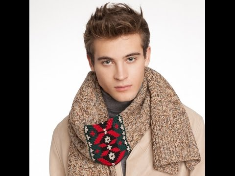 Мужские Шарфы Спицами - фото - 2019 / Men's Scarves Photo Spokes / Herrenschals Foto Spokes