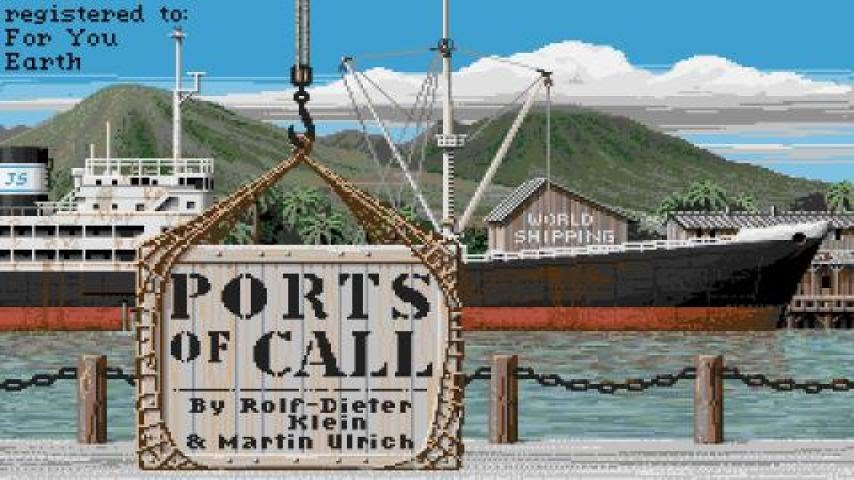 Ports Of Call Gameplay Pc Game 1987 Youtube