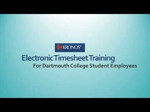 Dartmouth Student Employee Instruction Video