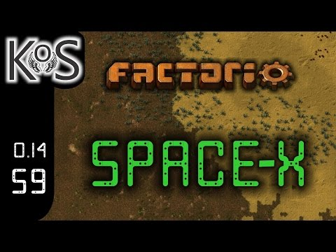 Factorio 0.14 Space-X Mod, Ep 59: Bot Based Train Unloading - Let's Play, Gameplay