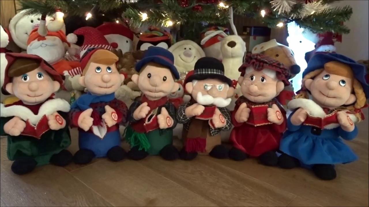 Christmas Carol Singers Ornaments.Christmas Carol Singers Interactive Singing Toys Friends We Wish You A Merry Christmas