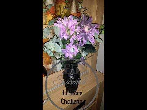 £5 Poundland Challenge: Spooky Halloween Flowers with Eyes DIY/Tutorial