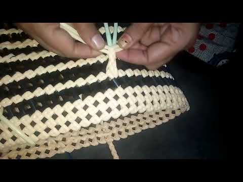 Handle making - keeping Lunch Box - normal knot  New Model tube koodai -  for beginners கைப்பிடி