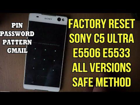 Hard Reset Sony Xperia C5 Ultra E5506 E5533 E5553 E5563 Safe New Method