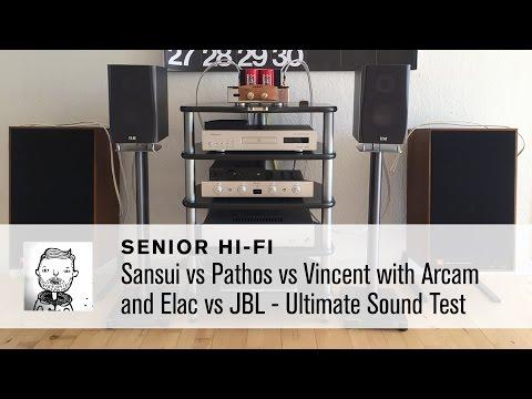 Sansui vs Pathos vs Vincent with Arcam and Elac vs JBL - Ultimate Sound Test