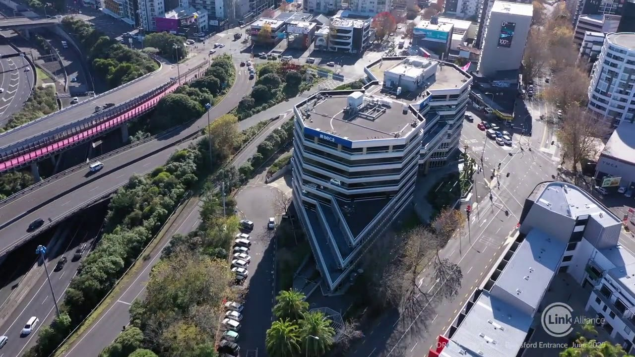 City Rail Link Link Alliance Beresford Sq construction drone view