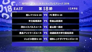 EAST 第18節 ダイジェスト【高円宮杯 JFA U-18サッカープレミアリーグ 2018】