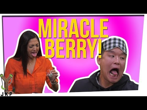Trying 6 Different Foods With The Miracle Berry! ft. Nikki Limo & Steve Green