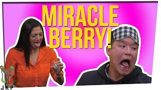 Trying 6 Different Foods With The Miracle Berry! ft. Nikki Limo & Steve Greene