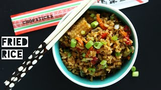 How To Make Healthy Low Calorie Fried Rice | Easy Low Fat Fried Rice Recipe