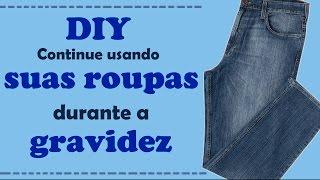 DIY – Continue usando suas calças jeans durante a gravidez