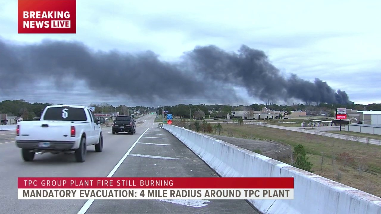 Download Firefighters continue to fight TPC Group plant fire in Port Neches as smoke stays closer to ground