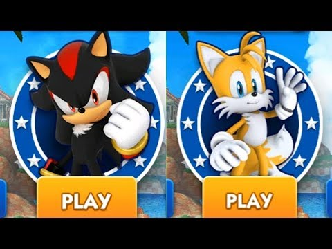 Sonic Dash Android Gameplay - SHADOW VS TAILS