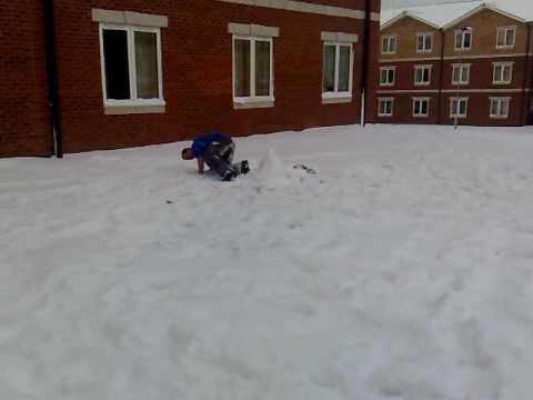 RAF NORTHOLT MONTY ATTACKS SNOWMAN
